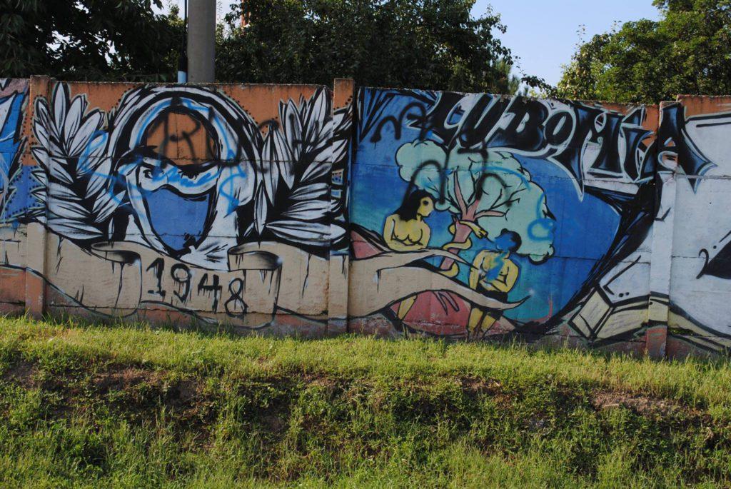 graffiti na płocie Silesia Lubomia