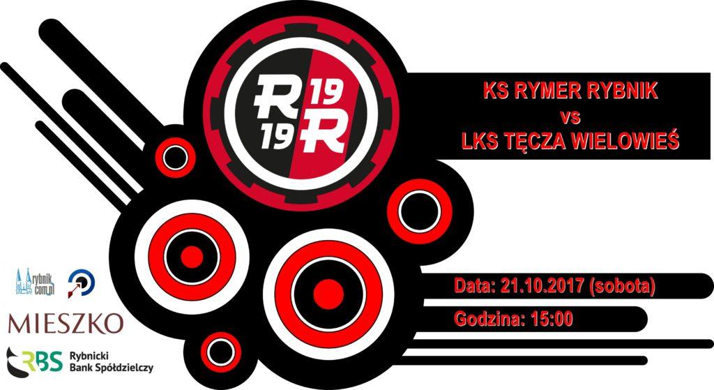 plakat zapraszający na mecz KS Rymer - Tęcza Wielowieś