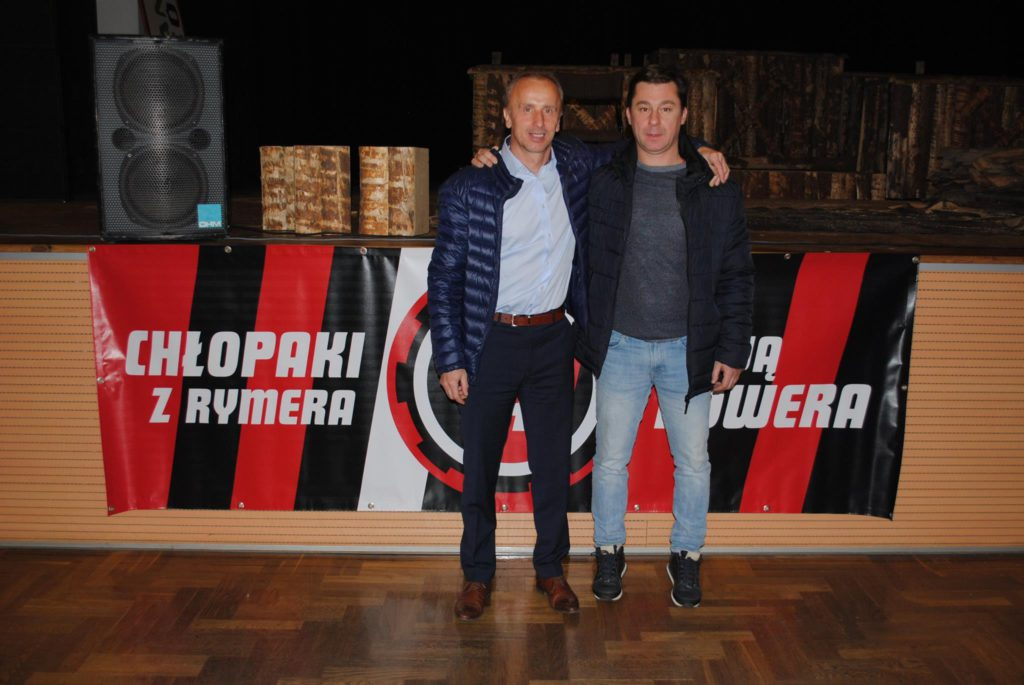 koledzy z boiska na Rymerze - Jacek Trzeciak i Krzysztof Kuśka