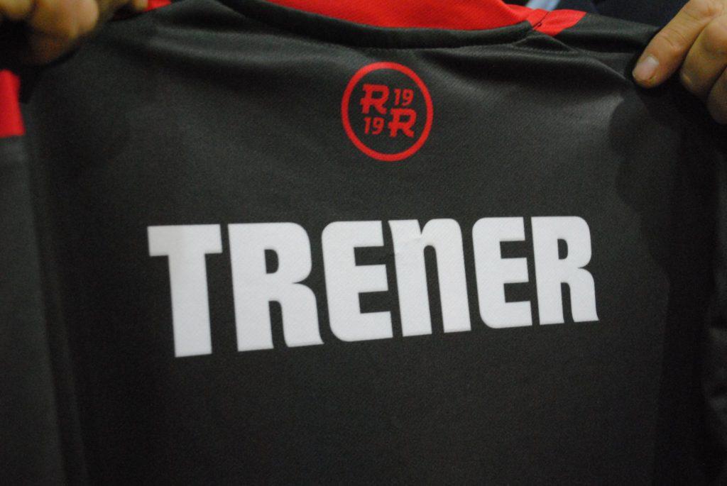 koszulka z napisem - trener.