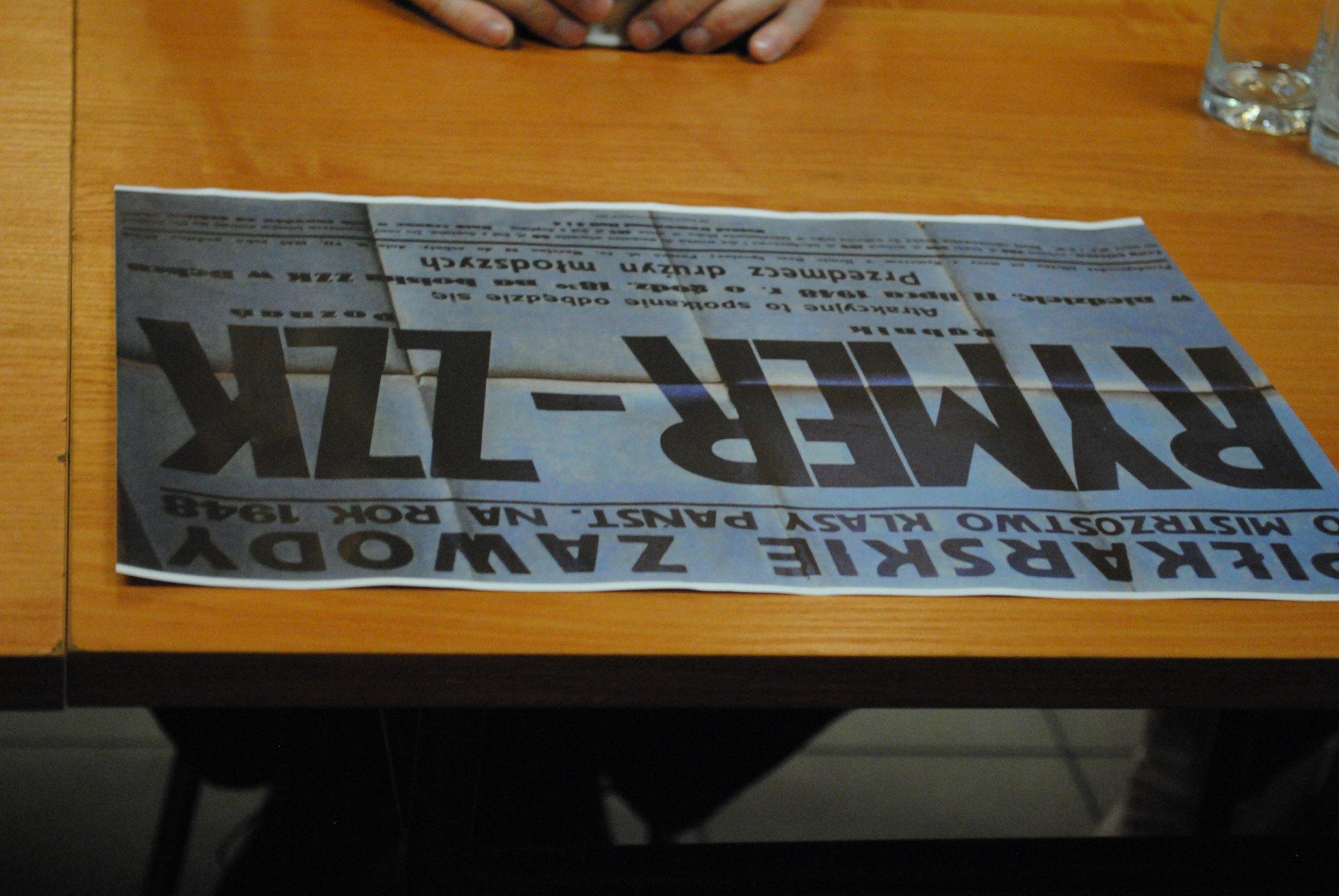 spotkanie w sprawie monografii Rymera - plakat