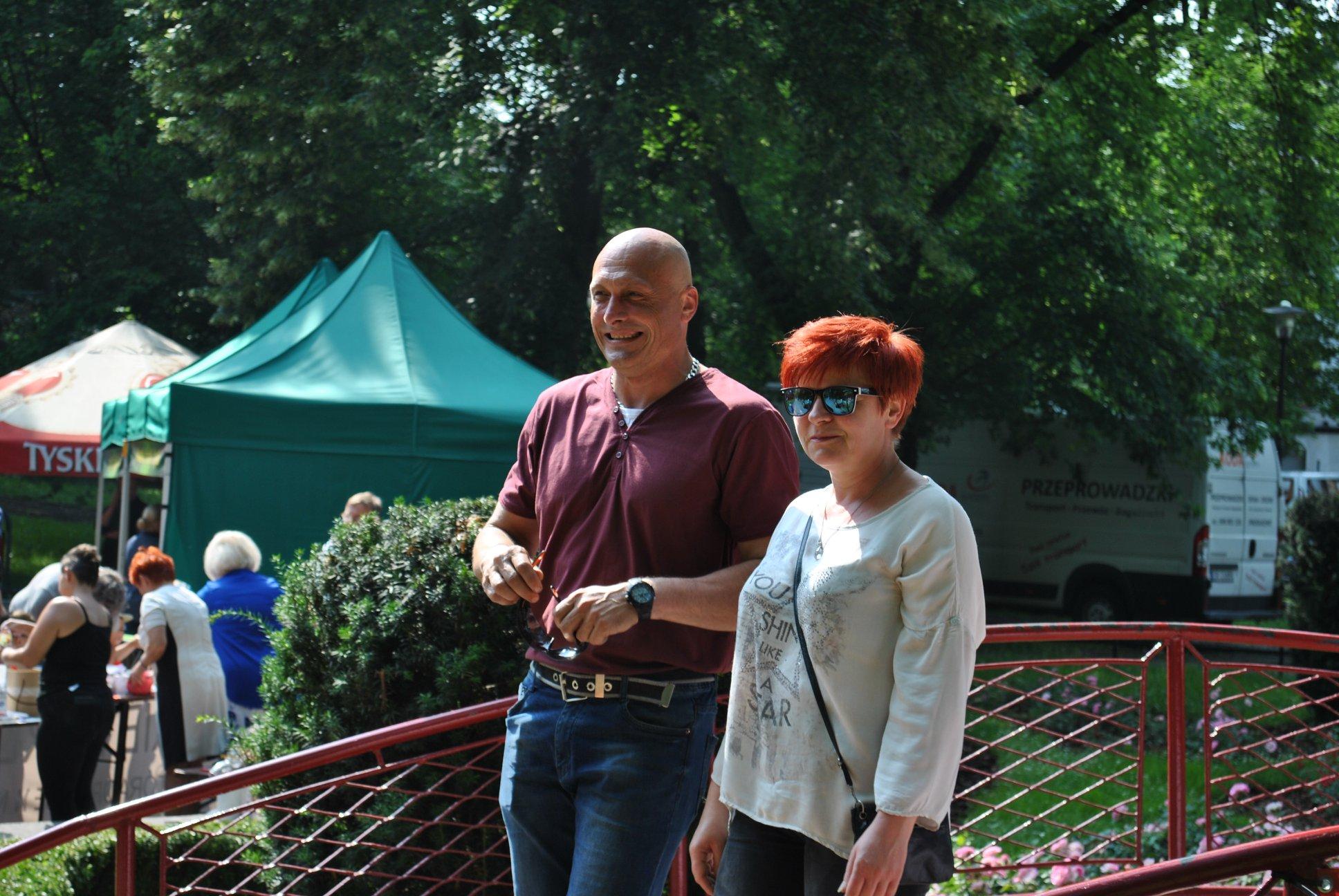 Członek Zarządu KS Rymer - Adam Murek wraz z żoną