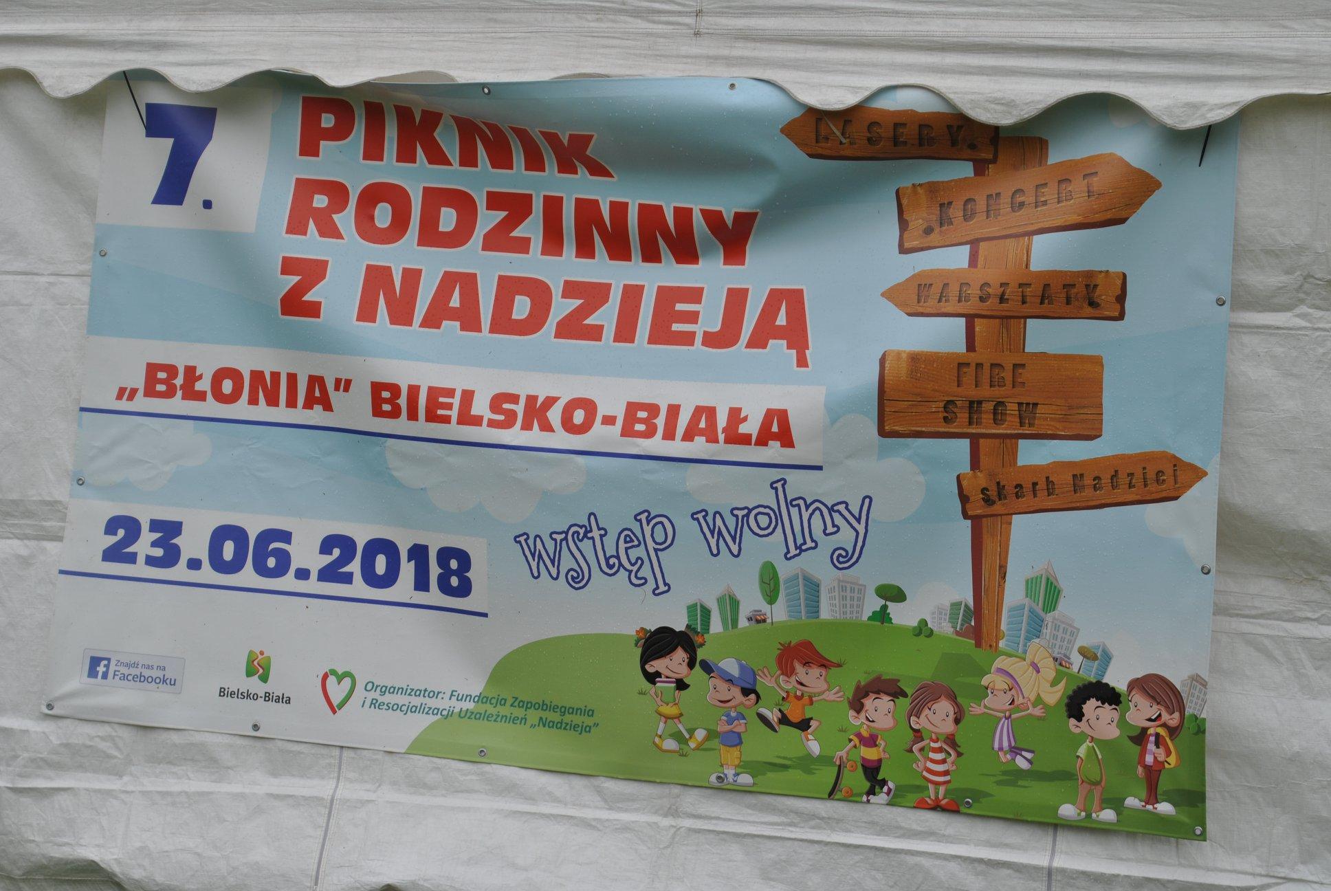 plakat reklamujący Piknik Rodzinny z Nadzieją