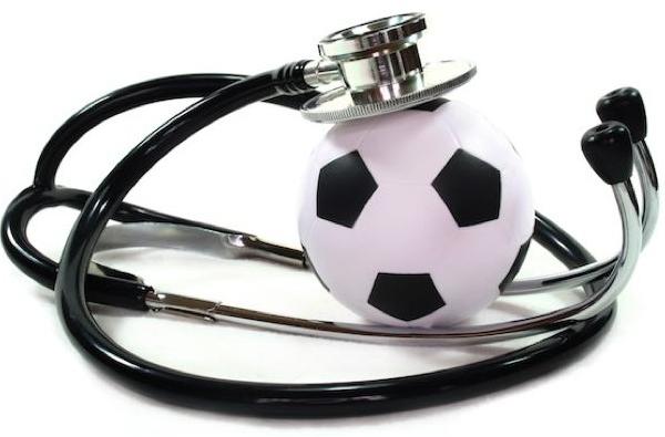 stetoskop i piłka nożna